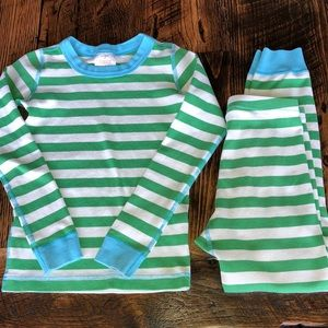 Hanna Andersson Striped Boys Girls Pajama Set 8